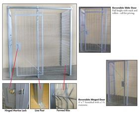 WELDED WIRE PARTITIONS & SECURITY CAGES